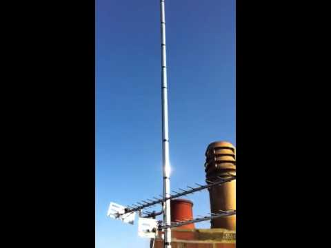 Antron A99 18 ft HF omni-directional antenna on a 20ft pole by The Aerial Man (Dan Grace)