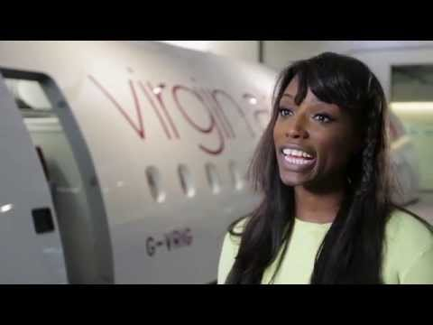 Lorraine Pascale comes on board Virgin Atlantic flights