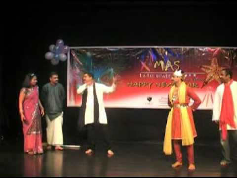 Malayalam Comedy Skit - Christmas Malayalam Comedy Stage Show Scene In Uk video