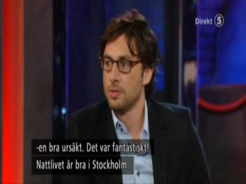 Zach Braff in Swedish talkshow! (Part 1/2) Video