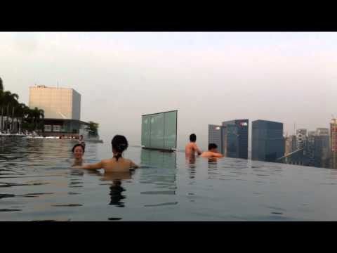 The view from infinity pool at Marina Bay Sands Hotel Singapore - the secret is revealed!