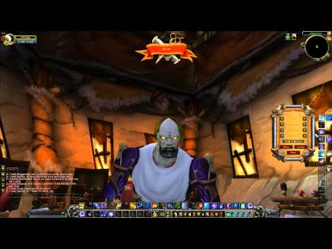 World of Warcraft 6.0.2: New Undead Character Model / Zombie at the Barber