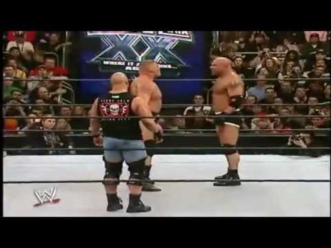 Goldberg Vs. Brock Lesnar Highlights - Wrestlemania 20 video