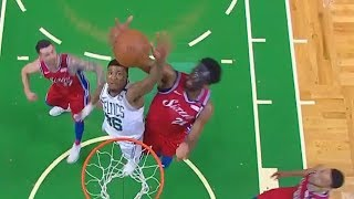 Marcus Smart Bullies Joel Embiid For The Rebound! Celtics vs Sixers