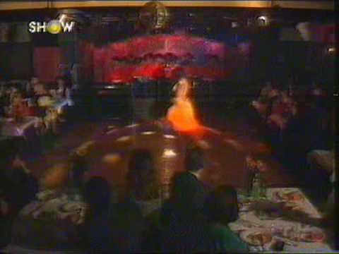 Hot and sexy belly dancer dancing at the Turkish Television