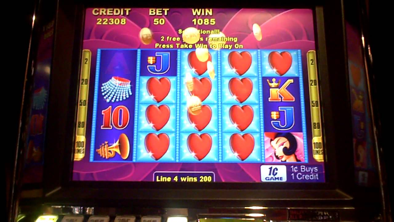 Hearts Poker Machine Heart of Vegas Slot Machine