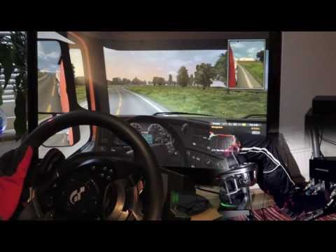 Euro Truck Simulator 2 - Stockholm Helsinki. Scania track drift T500RS Steering Wheel. Full HD 2014