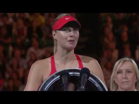 Maria Sharapova speech (Final) - Australian Open 2015