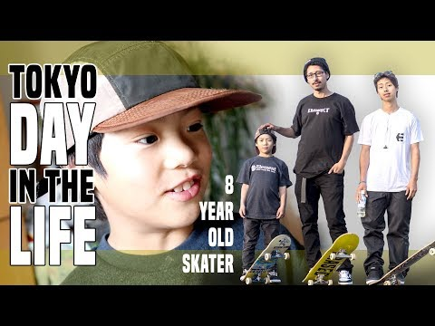 TALENTED 8 YEAR OLD JAPANESE SKATER KID