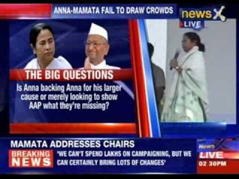 Mamata Banerjee Addresses A Rally At Ramlila Maidan video