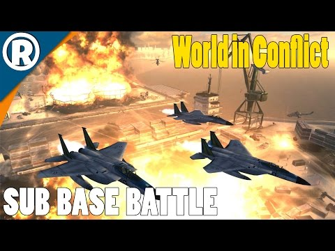 SUB BASE BATTLE - World in Conflict: Soviet Assault - Mission 13