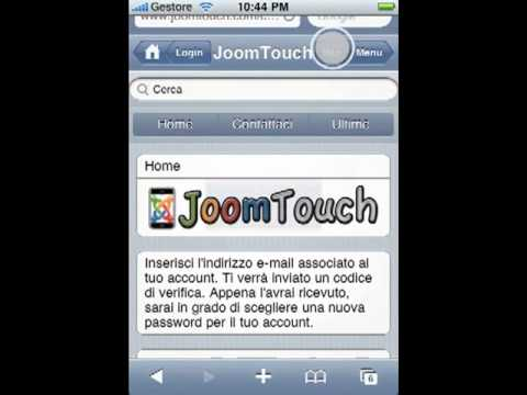 JoomTouch - a Iphone ipod touch Management Component for Joomla!