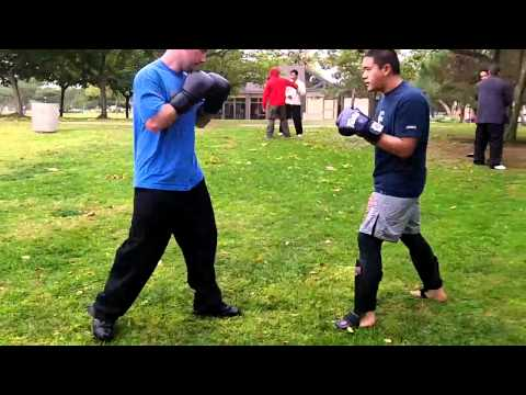 Muay Thai vs Muay Thai Boar Bando Sparring at OC Open Martial Arts Meetup Image 1