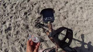 A NICE DAY metal detecting on the BEACH