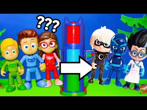 PJ Mask Transforming TowerWith Mickey Mouse + Babies and Powerpuff Girls Surprise Video