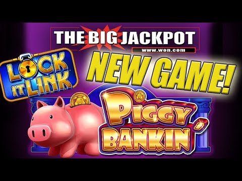 (MUST WATCH) INSANE JACKPOT! 🐽3 Lock It Link JACKPOT$ on NEW GAME Piggy Bankin' 💸 The Big Jackpot