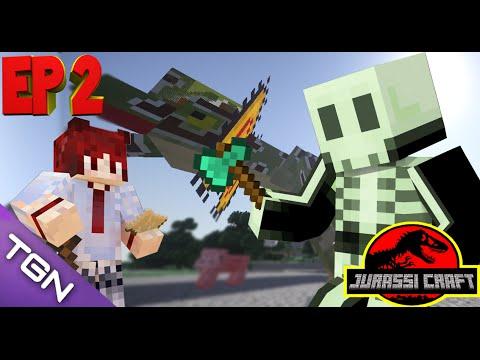 Minecraft JurassiCraft #2 [โบ้ท&เป้] คืนที่สองยุดไนโนเสาร์