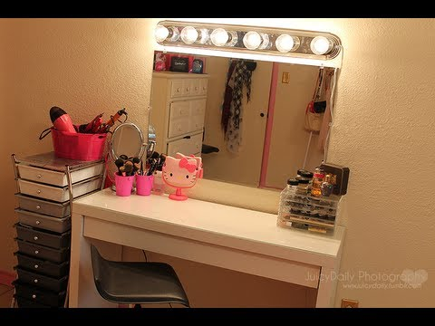 room inspiriation my new vanity mirror lighting youtube. Black Bedroom Furniture Sets. Home Design Ideas