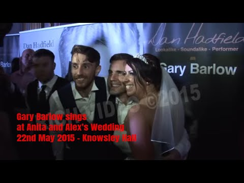 Gary Barlow sings at Anita and Alex's Wedding - 22nd May 2015 - Knowsley Hall