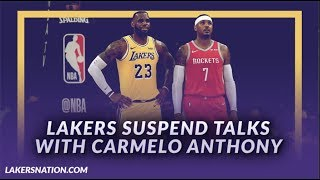 Lakers NewFeed: Lakers Suspend Talks With Carmelo Anthony