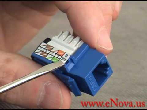 How to wire an RJ45 jack YouTube