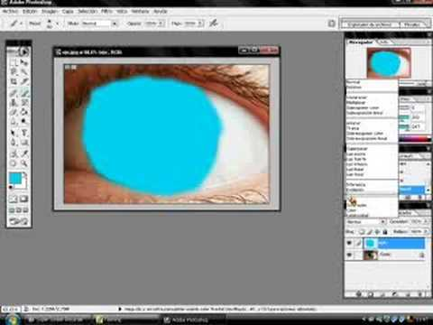 tutorial de pintar ojos en photoshop 7.0