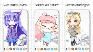 Anime & Manga Color by Number - Sandbox Pixel Art Android Gameplay