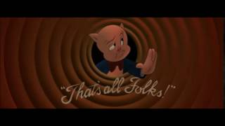 Porky Pig That's all Folks Lights Out