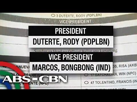Duterte, Marcos get INC backing