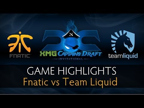 Dota 2 Fnatic vs Team Liquid - Game Highlights - The XMG Captains Draft Invitational