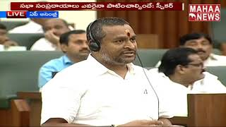 Vellampalli Srinivas Speaks About Occupying Government Lands | Budget Session 2019 Live | MAHAA NEWS