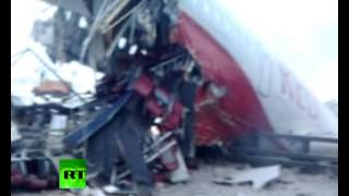 Graphic video: First moments after Tu-204 plane crash near Moscow