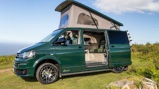 Ontario Green Ashton Campervan - Black and Green Leather