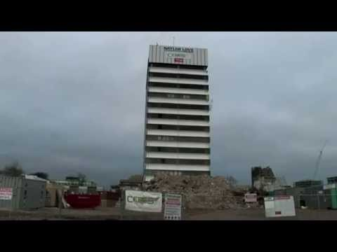 CeresNZ Christchurch, NZ Implosion of the Radio Network House Building