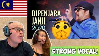 AWIE - DIPENJARA JANJI | THE READ LANTERN CONCERT 2020 | REACTION!😍 - Musik76