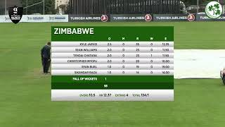 LIVE Cricket - Ireland vs Zimbabwe 2nd T20I