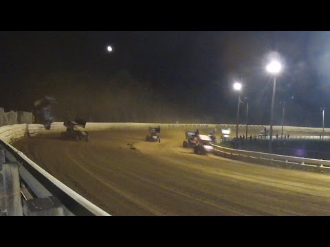 Selinsgrove Speedway 410 Sprint Car Highlights 9-13-14