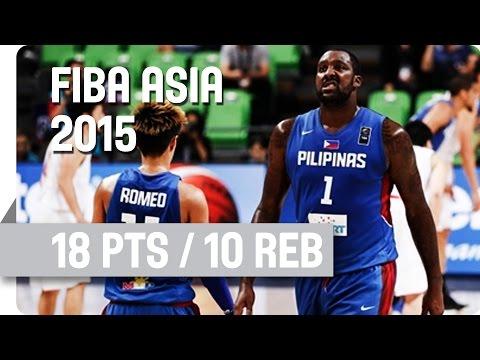 Injured Blatche's Heroic Double-Double Performance v Japan - 2015 FIBA Asia Championship