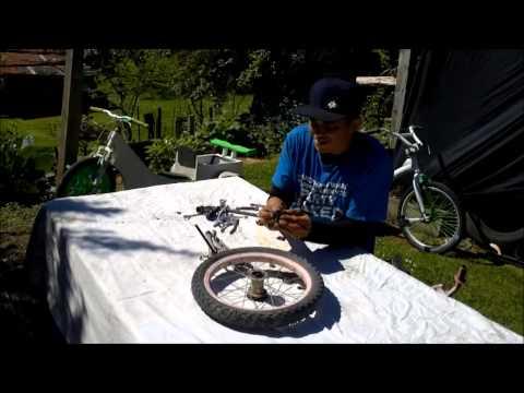 How To Build A Drift Trike Front Wheel -  Kids Pedal Break Wheel Rebuild - JACEonDRIFT