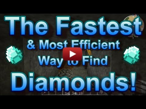 How to Find Diamonds in Minecraft Survival Fast! 1.8 1.7.5 1.7.10 Any Version!
