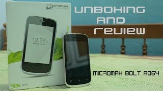 Micromax Bolt A064 unboxing and review