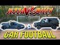 GIANT CAR FOOTBALL BATTLE   F2FREESTYLERS