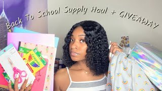 Back To School Supplies Haul + Mini shopping Vlog + GIVEAWAY  2019!