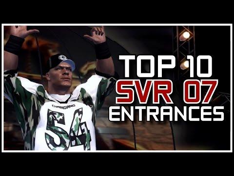 WWE SVR 2007 - Top 10 Entrances! (Smackdown vs RAW 2007 Countdown)