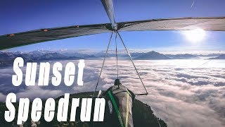 Sunset Speedrun Top to Bottom #Hanggliding