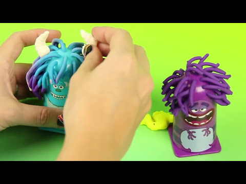 PLAY DOH Disney Monsters Inc. Scare Chair Haircut - Box Opening, Review and Play