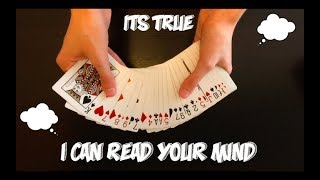 Very Cool Mind Reading Card Trick Performance And Tutorial!