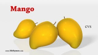 Learn Fruits Song For children - 3D Animation English Nursery rhymes