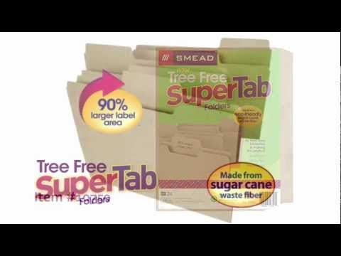 Tree Free SuperTab File Folders - Biodegradable - Recyclable - Eco-friendly