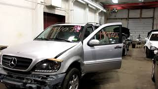 Parting out a 2004 Mercedes ML350 parts car - 190102 - Tom's Foreign Auto Parts